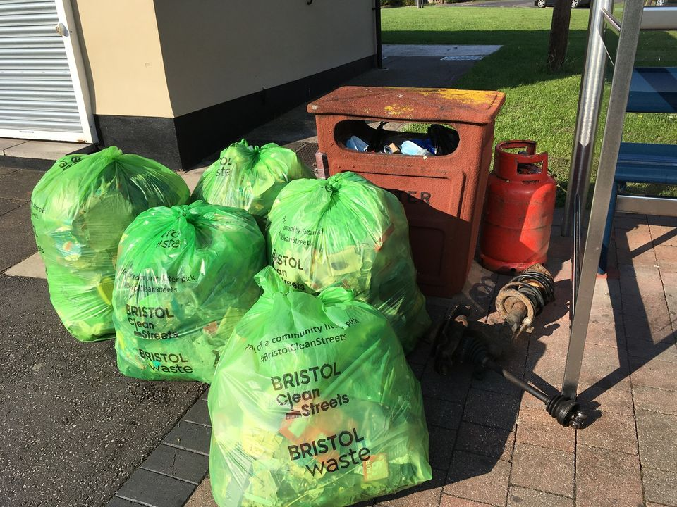 Socially-distanced monthly litter pick